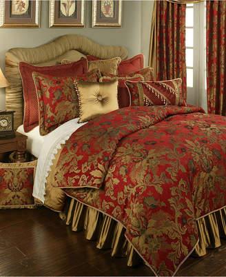 Austin Horn Classics Verona Red 3-Piece Luxury Comforter Set - Queen Bedding