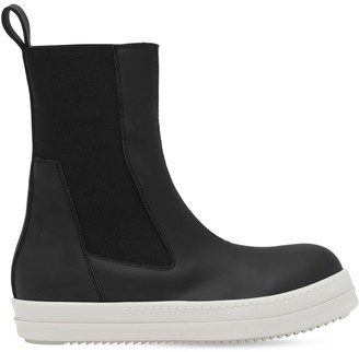 Rick Owens Faux Leather High-Top Beetle Sneakers