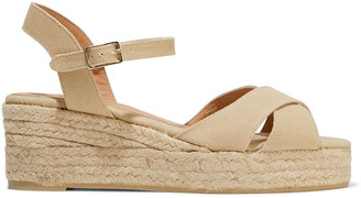 Castaner Blaudell Cotton-canvas Espadrille Wedge Sandals