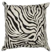 Kas Zebra Oasis 18-Inch Square Throw Pillow in Black/White