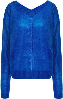 McQ Pointelle-trimmed Knitted Sweater