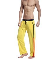 HOEREV Men's Joggers Track Suit Exercise Fitness Boxing Pants Sweat Cotton Trousers