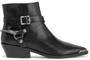 Sigerson Morrison Jade Strap-detailed Leather Ankle Boots