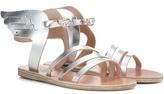 Ancient Greek Sandals Ikaria Metallic Leather Sandals