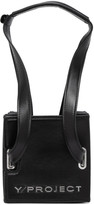 Y/Project Black Leather and PVC Mini Accordion Bag