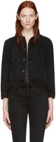 Helmut Lang Black Shrunken Denim Jacket