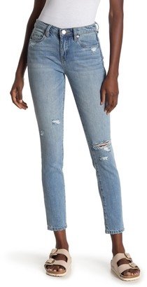 Blank NYC Mid Rise Distressed Skinny Jeans