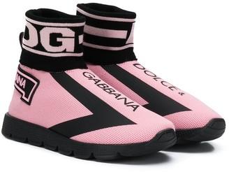 Dolce & Gabbana Mesh Upper Sneakers