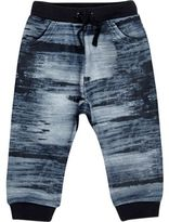 River Island Mini boys navy print joggers