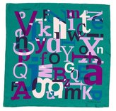 Turnbull & Asser Alphabet Print Silk Pocket Square