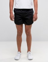 Asos Chino Shorts With Elasticated Waist In Black