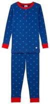 Petit Bateau Boys striped short pajamas