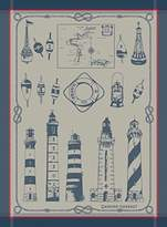 Garnier Thiebaut Garnier Thiebaut, Phares et Balises (Lighthouses and Buoys), Bretagne French Jacquard Kitchen Towel, 100 Percent Cotton, 22 Inches x 30 Inches