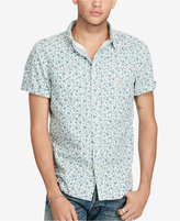 Denim & Supply Ralph Lauren Men's Floral-Print Slub Cotton Shirt