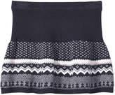 Joe Fresh Kid Girls' Fair Isle Knit Skirt, JF Midnight Blue (Size S)