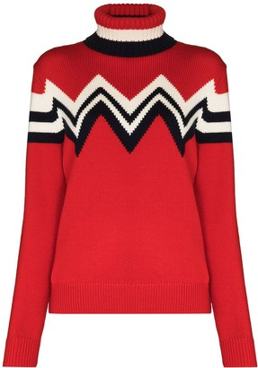 Perfect Moment Alpine zigzag roll-neck jumper