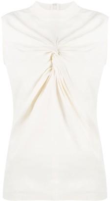 Off-White knot-detail sleeveless T-shirt