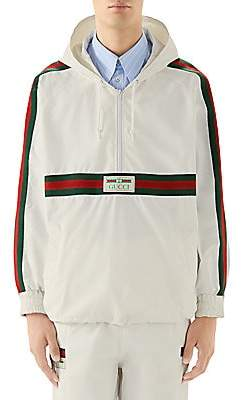 Gucci Men's Cotton Canvas Half-Zip Windbreaker Jacket