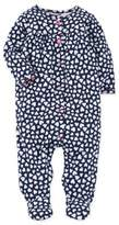 Carter's Snap-Up Heart Sleep & Play Footie in Navy