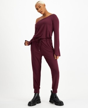INC International Concepts Culpos x Inc Off-The-Shoulder Jumpsuit, Created for Macy's