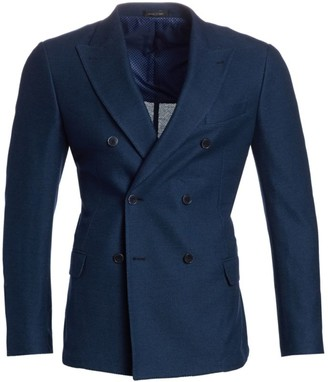 Saks Fifth Avenue COLLECTION Double Breasted Jersey Knit Jacket
