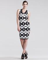 Altuzarra Dust Ikat-Print Jersey Dress