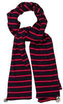 Donni Charm Fur-Accented Striped Scarf w/ Tags
