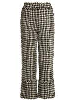 Erdem Verity straight-leg hound's-tooth trousers