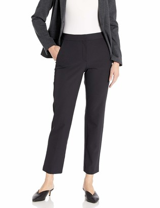 Rebecca Taylor Women's Cropped Suiting Pant with Tuxedo Stripe Detail