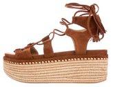 Stuart Weitzman Lace-Up Platform Sandals