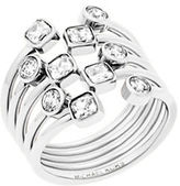 Michael Kors Modern Brilliance Cubic Zirconia and Stainless Steel Layered Ring
