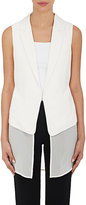 R/R Studio by Robert Rodriguez R/R STUDIO BY ROBERT RODRIGUEZ WOMEN'S LAYERED CHIFFON VEST-WHITE, IVORY SIZE 2