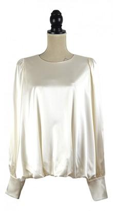 Thomas Wylde Beige Silk Top for Women