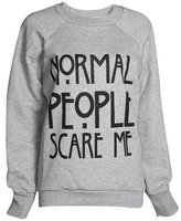 ZJ Clothes Women's Normal People Scare Me Print Fleece Sweatshirt Hoodie Top 7 Colors