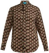 MiH Jeans Twigs tie-neck silk crepe de Chine shirt
