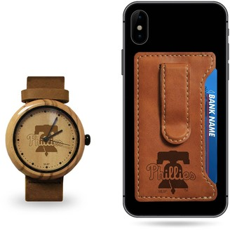 Sparo Philadelphia Phillies Wood Watch and Phone Wallet Gift Set