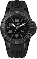 Caterpillar CAT WATCHES Men's 'Bondi' Quartz Plastic and Rubber Casual, Color:Black (Model: LD11121125)