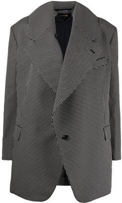 Comme des Garcons Oversized Patterned Blazer Jacket