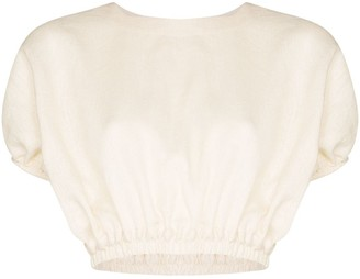Matteau Puff Sleeve Cropped Top