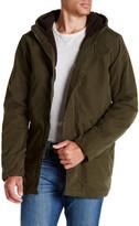 Scotch & Soda Hooded Fleece Longline Jacket