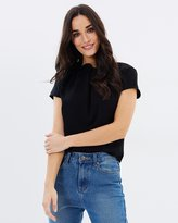 Forcast Bree Shirred Neck Top