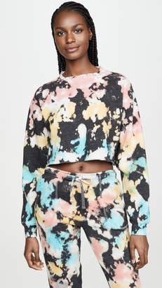 Chloé Mason Grey Crop Sweatshirt