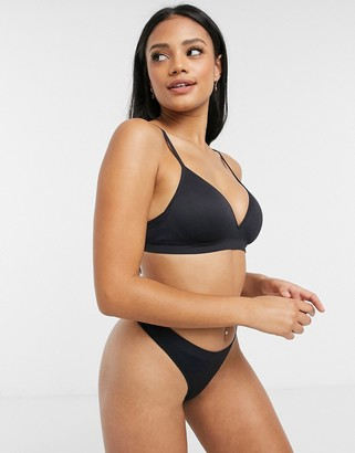 Lindex Petite seamless non-wired lightly padded bra in black