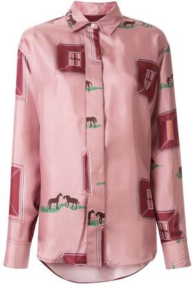 Victoria Beckham Horse Print Shirt