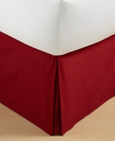 Hotel Collection Textured Red California King Bedskirt