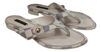Louis Vuitton Ecru Leather Sandals