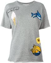 Stella McCartney patch T-shirt - women - Cotton/Viscose - 40
