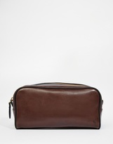 Polo Ralph Lauren Leather Wash Bag - Brown
