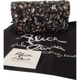 Alice + Olivia Grey Leather Clutch Bag