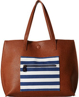 Gabriella Rocha Easten Stripe Tote with Attached Coin Purse